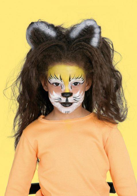 maquillaje fantasia leon