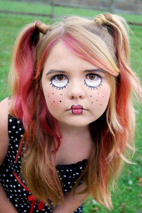 maquillaje fantasia muñeca