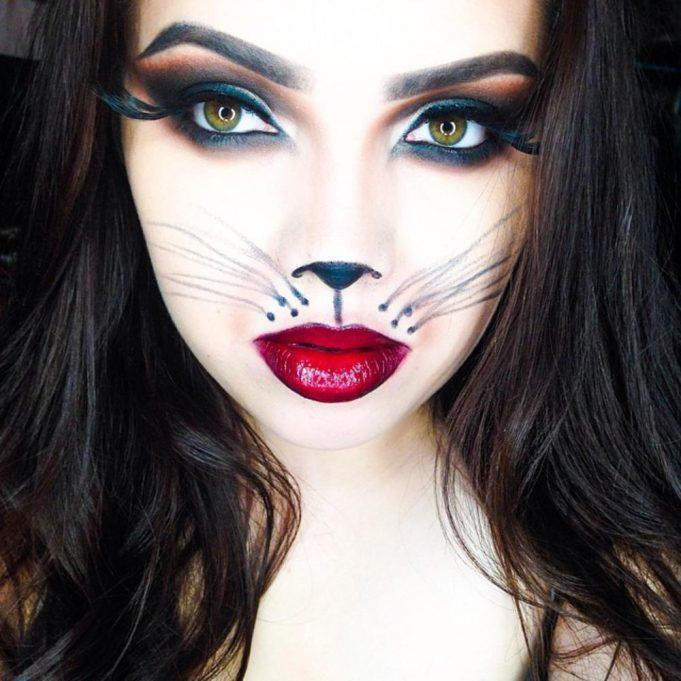 maquillaje de gato