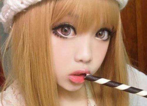 mejillas maquillaje kawaii