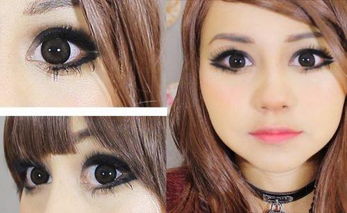 ojos para maquillaje kawaii