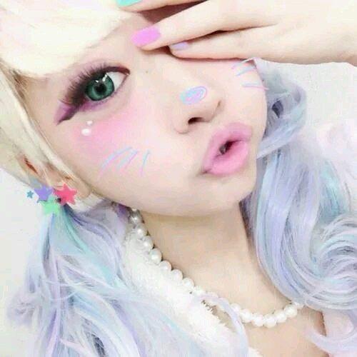 maquillaje kawaii