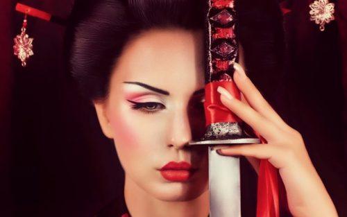maquillaje geisha moderno