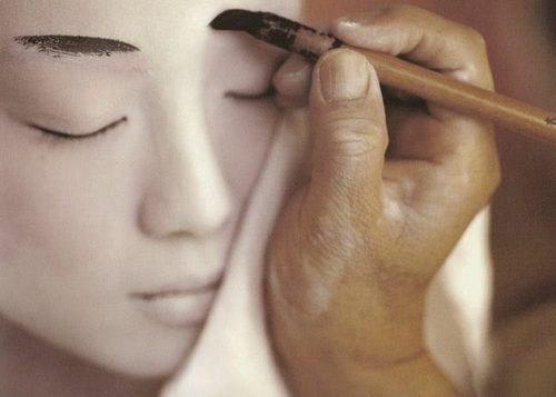 cejas makeup geisha
