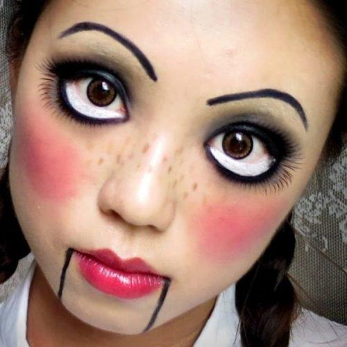 maquillaje de muñeca para haloween