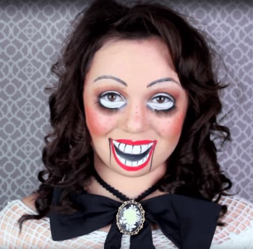 maquillaje muñeca contenta