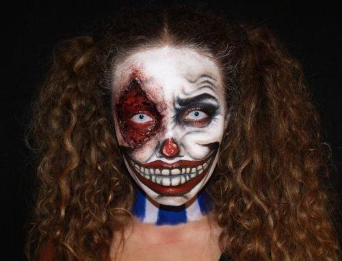 maquillaje payasa diabolica
