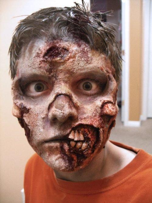 maquillaje zombie niño