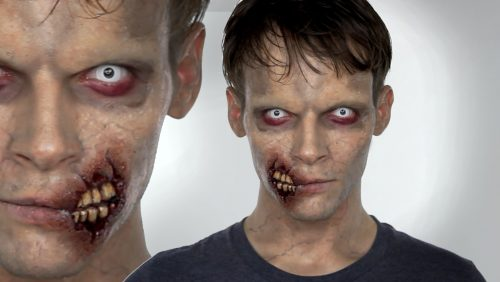 maquillaje zombie para haloween muy realista