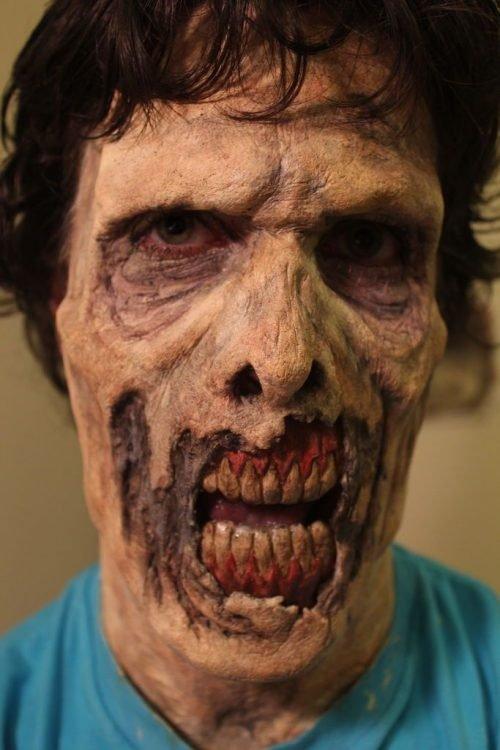 maquillaje zombie reseco