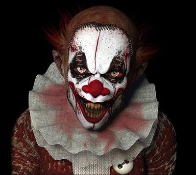 payaso diabolico maquillaje