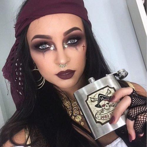 Maquillaje pirata ojos profundos