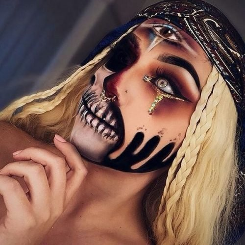 Maquillaje Pirata 8 Disenos Espectaculares Mis Maquillajes - Maquillaje-de-pirata-para-mujer