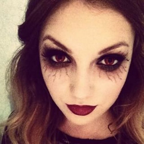 Maquillaje vampiresa venas