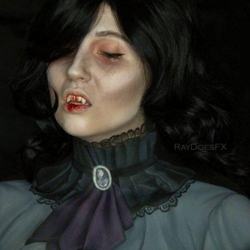 Maquillaje de vampiresa clásico