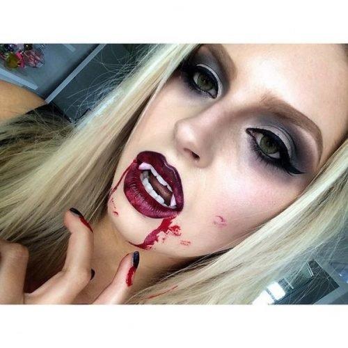 Maquillaje glamoroso vampiresa