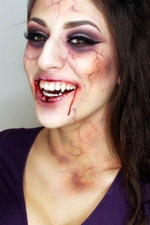 Maquillaje De Vampiro 20 Dise 241 Os Escalofriantes Mis