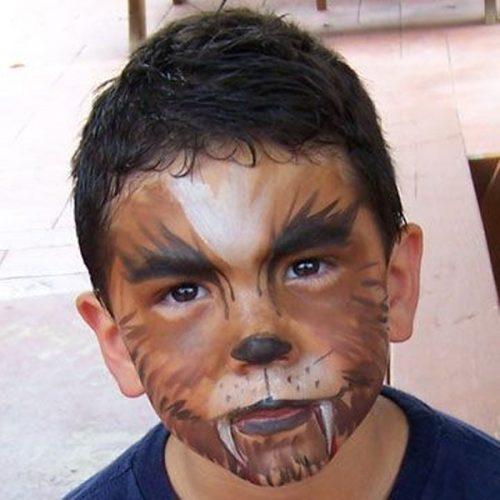 Maquillaje de hombre lobo niños