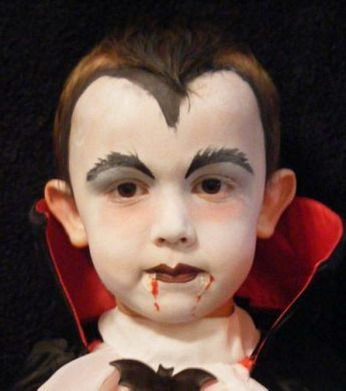 Maquillaje de dracula para niños