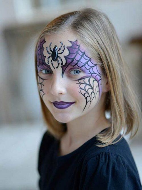 Maquillaje infantil de araña