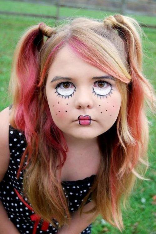 Maquillaje infantil de muñeca