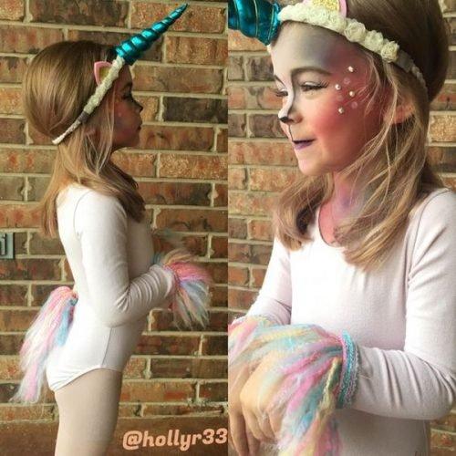 Maquillaje para niña de unicornio
