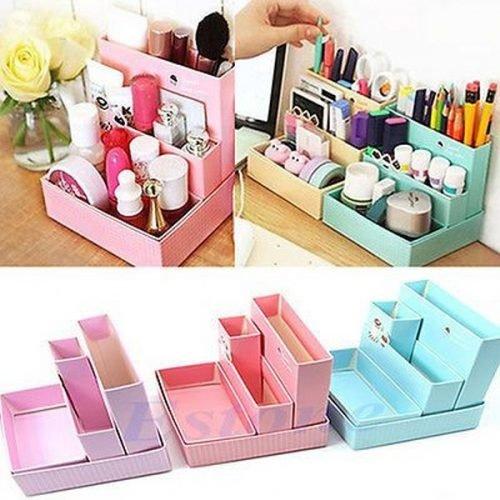 organizador de maquillaje gavetitas de cartón o madera