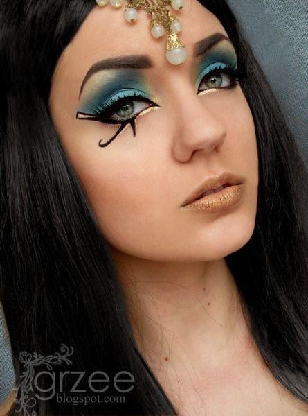 Maquillaje de Cleopatra ojos