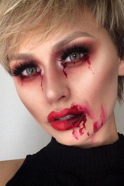 Maquillaje de Dracula sencillo pero aterrador