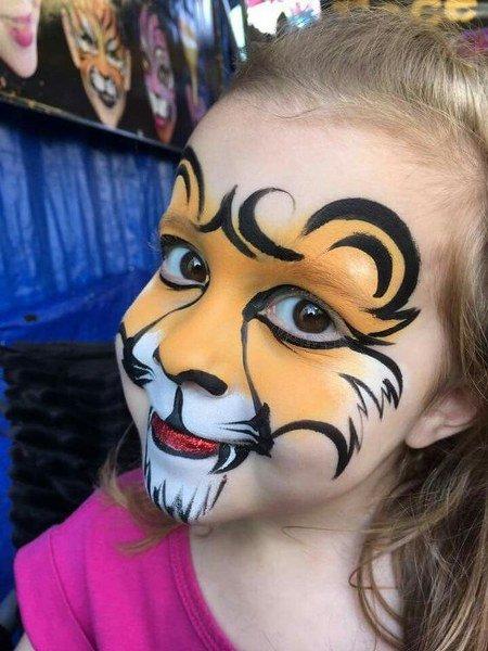 Maquillaje de león Caricaturesco