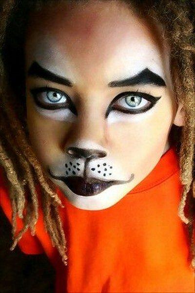 Maquillaje de león Impactante
