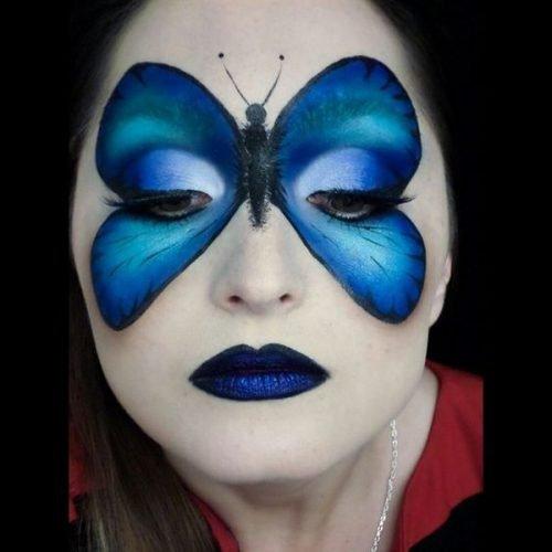 Maquillaje de Mariposa Con plantilla