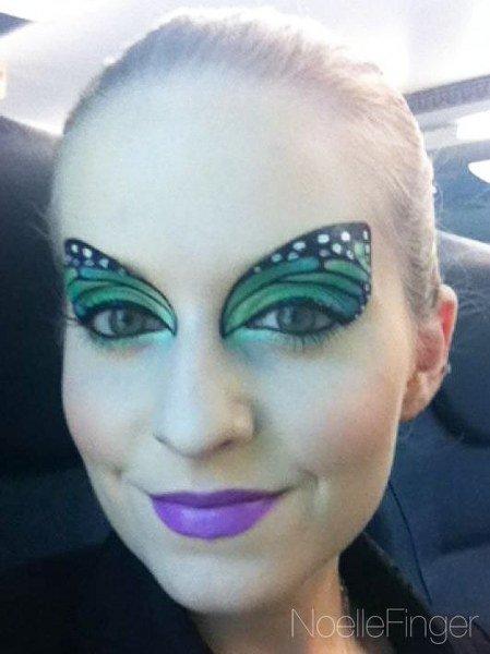 Maquillaje de Mariposa Delicado y hermoso