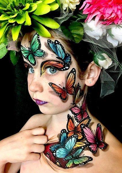 Maquillaje de Mariposa Como un hada