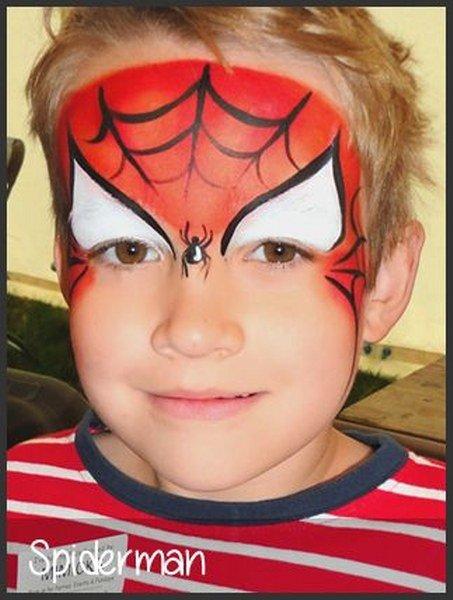 Maquillaje de Spiderman Medio rostro