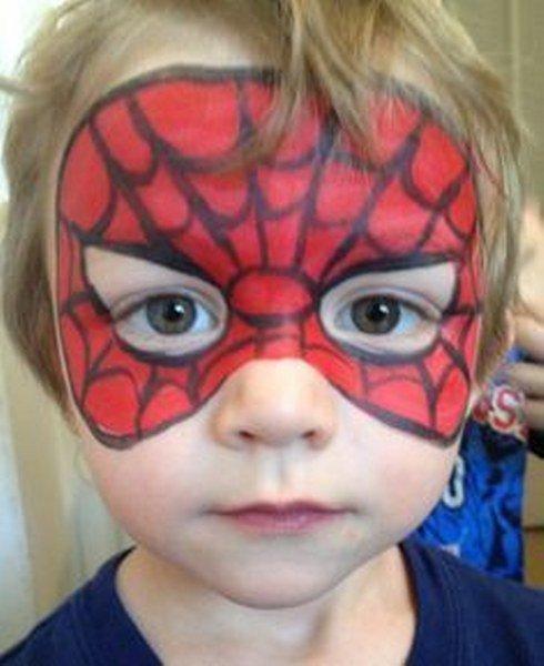 Maquillaje de Spiderman Máscara sencilla