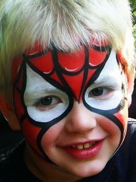 Maquillaje de Spiderman para niños