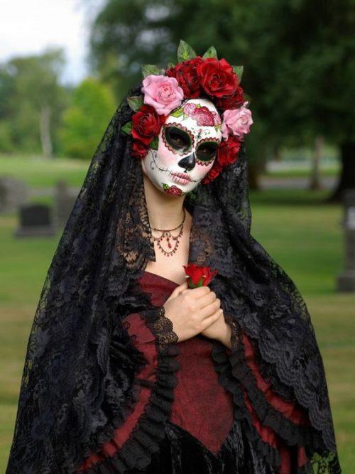 Calavera MEXICANA maquillaje clásico