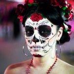 Calavera MEXICANA maquillaje con el cabello recogido