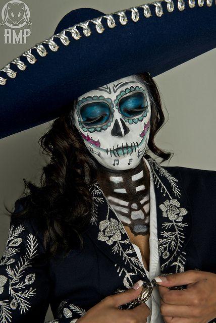 Calavera MEXICANA maquillaje mariachi