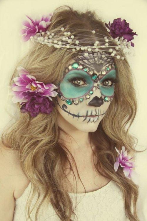 Calavera MEXICANA maquillaje pastel