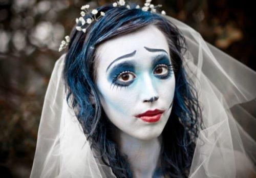 Maquillaje novia CADÁVER en blanco