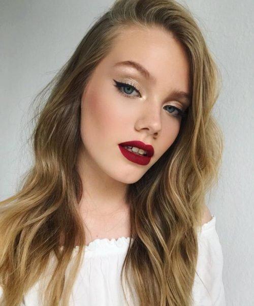 Maquillaje para RUBIAS delineados