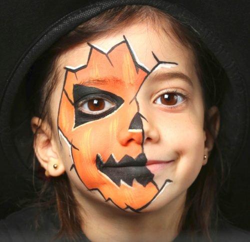 Maquillajes HALLOWEEN niños calabaza