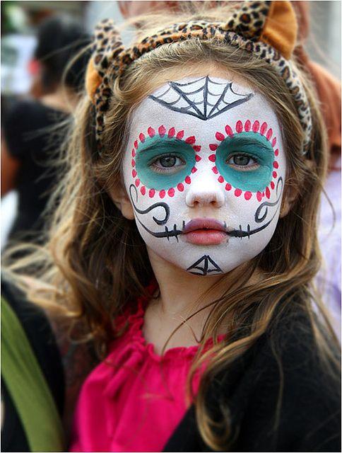 Maquillajes HALLOWEEN niños catrina