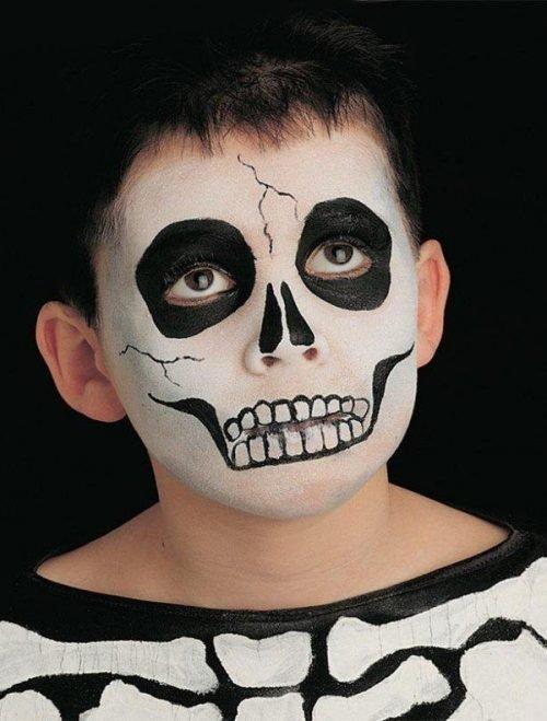 Maquillajes HALLOWEEN niños esqueleto