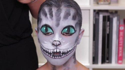 Maquillajes HALLOWEEN niños gato