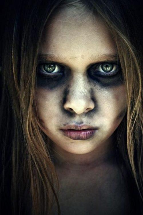 Maquillajes HALLOWEEN niños tetrico
