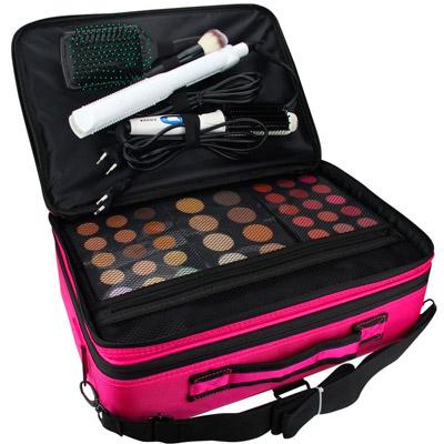maletín de maquillaje rosado