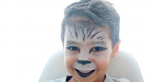 Maquillaje de lobo feroz para niños